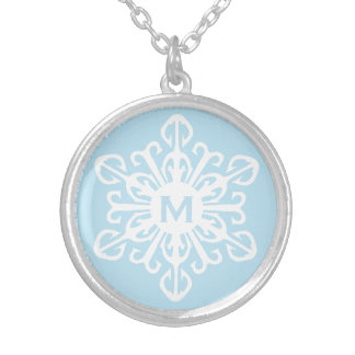 Monogrammed ~ Snowflake Pendants