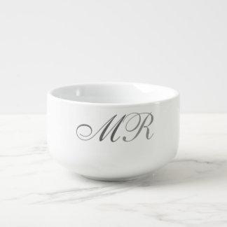 Monogrammed Soup Mug