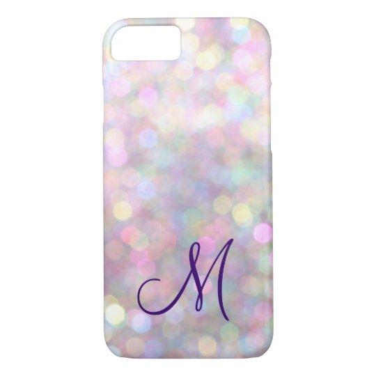 Monogrammed Sparkle iPhone 7 Case