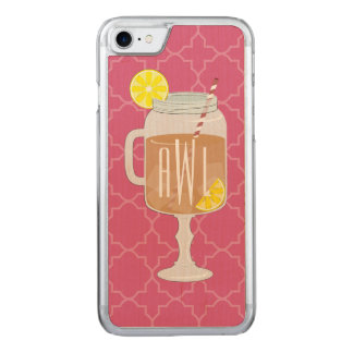Monogrammed Stemmed Mason Jar of Sweet Tea Carved iPhone 8/7 Case