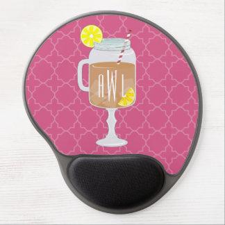 Monogrammed Stemmed Mason Jar of Sweet Tea Gel Mouse Pad