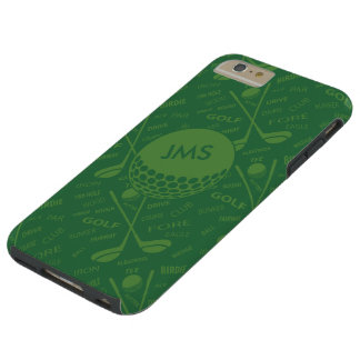 Monogrammed Subtle Golfer Pattern Tough iPhone 6 Plus Case