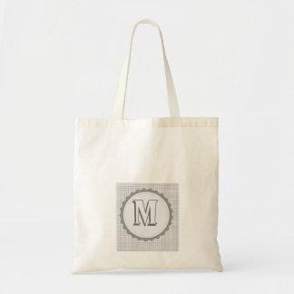 Monogrammed  Sway Parade Letter M Budget Tote Bag