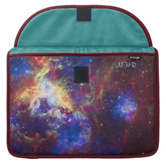 Monogrammed Tarantula Nebula with poetic quote Sleeves For MacBook Pro