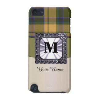 Monogrammed tartan plaid pattern iPod touch 5G case