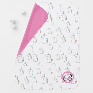 Monogrammed Unicorn baby blanket! Baby Blanket