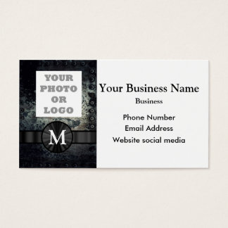 Monogrammed urban  grunge abstract pattern business card