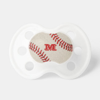Monogrammed Vintage Baseball Pacifiers for Boys