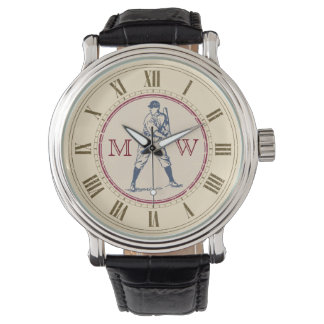 Monogrammed Vintage Baseball Watch
