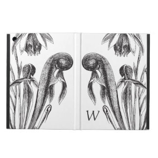 Monogrammed Vintage Carnivorous Cobra Plant Cover For iPad Air