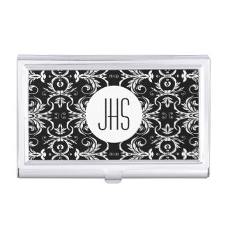 Monogrammed vintage floral womens PERSONALIZE Business Card Case