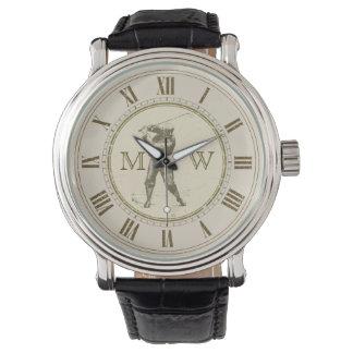 Monogrammed Vintage Golfer Watch