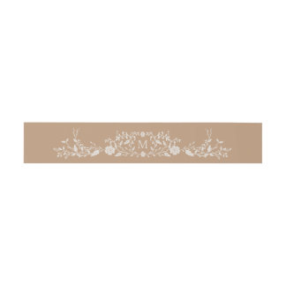 Monogrammed   Vintage Library Book Invitation Belly Band