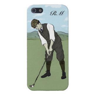 Monogrammed Vintage Style golf art iPhone 5/5S Case