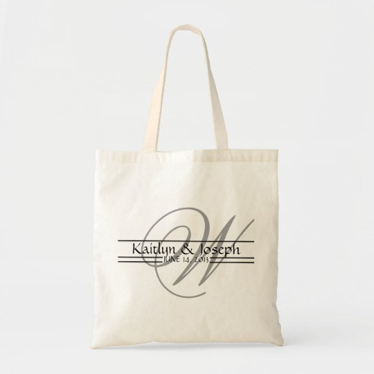 Monogrammed Wedding Reception Personalised Tote