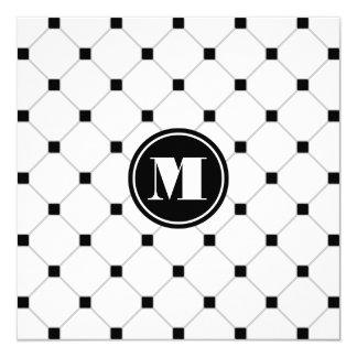 Monogrammed White Diamond Invitation