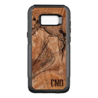Monogrammed Wood Knots Texture OtterBox Commuter Samsung Galaxy S8+ Case
