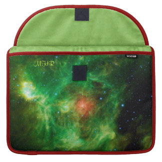 Monogrammed Wreath Nebula, Barnard 3, Milky Way MacBook Pro Sleeves
