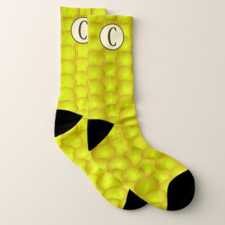 Monogrammed Yellow Corn on the Cob Corny Socks