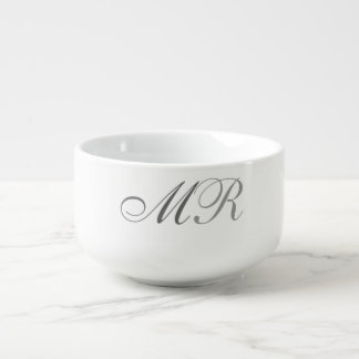Monogrammed Soup Bowl With Handle