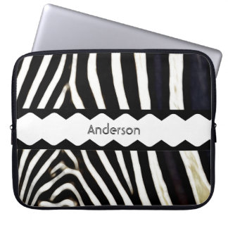 Monogrammed Zebra Laptop Sleeve