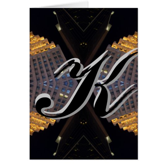 Monograms - Letters - Alphabets - CricketDiane Greeting Card