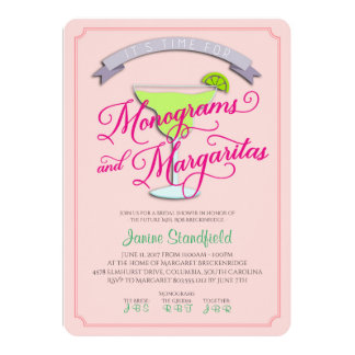 Monograms & Margaritas Bridal Shower Invitation