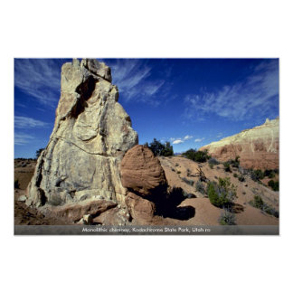 Monolithic chimney, Kodachrome State Park, Utah ro Poster