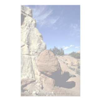 Monolithic chimney, Kodachrome State Park, Utah ro Stationery Paper