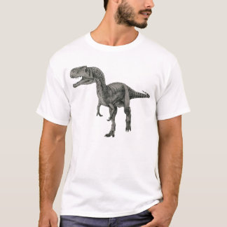 Monolophosaurus Dinosaur destroyed womens tshirt