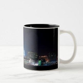 Monona Terrace and Madison Capitol at Night Two-Tone Coffee Mug