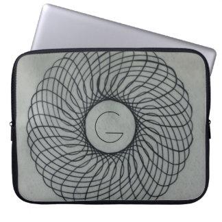 Monorgam Spirograph Doughnut Computer Sleeves