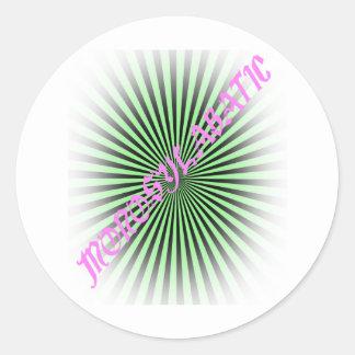 Monosylabatic Round Sticker