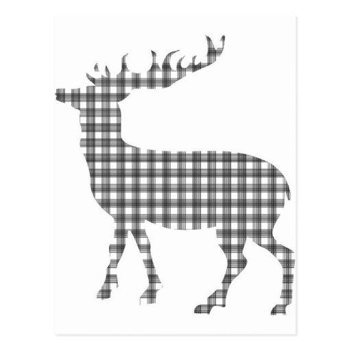 Monotone classic deer postcards