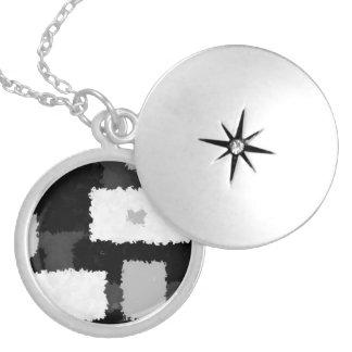 Monotone in Grey, Black & White Necklace