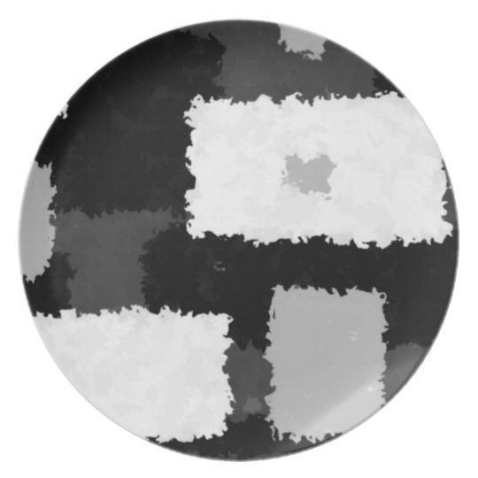 Monotone in Grey, Black & White Plate