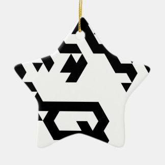 Monotoner2 Ceramic Star Decoration