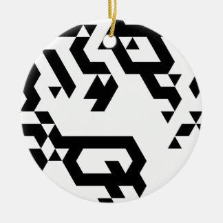 Monotoner2 Round Ceramic Decoration