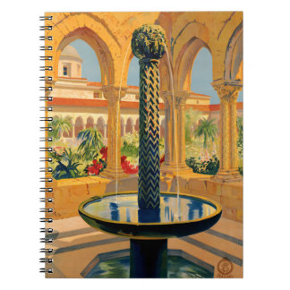 Monreale Palermo Italy Vintage Poster Restored Notebook