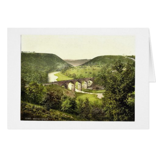 Monsal Dale III., Derbyshire, England magnificent Greeting Cards