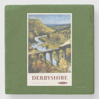 Monsal Dale, Train and Viaduct British Rail Stone Coaster
