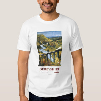 Monsal Dale, Train and Viaduct British Rail T Shirt