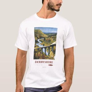 Monsal Dale, Train and Viaduct British Rail T-Shirt