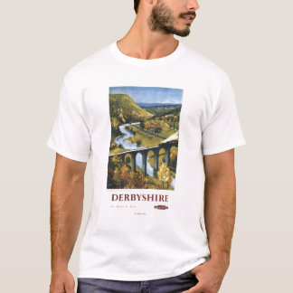 Monsal Dale, Train and Viaduct British Rail T-Shirt