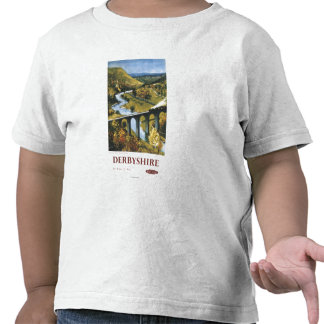 Monsal Dale Train and Viaduct British Rail Tshirts