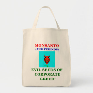 MONSANTO EVIL SEEDS ORGANIC TOTE GROCERY TOTE BAG
