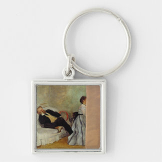 Monsieur and Madame Edouard Manet, 1868-69 Silver-Colored Square Key Ring