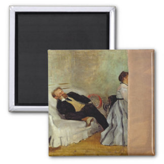 Monsieur and Madame Edouard Manet, 1868-69 Square Magnet