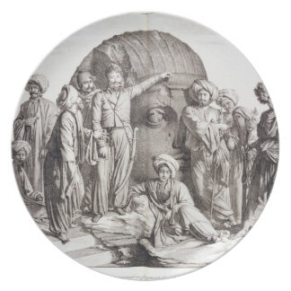 Monsieur Drovetti and his followers using a plumb Plate