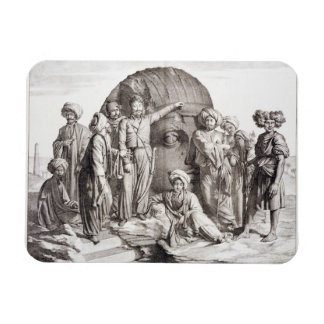 Monsieur Drovetti and his followers using a plumb Rectangular Photo Magnet
